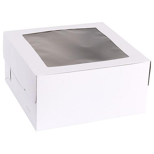 White Square Window Cake Box, 12in Image #2
