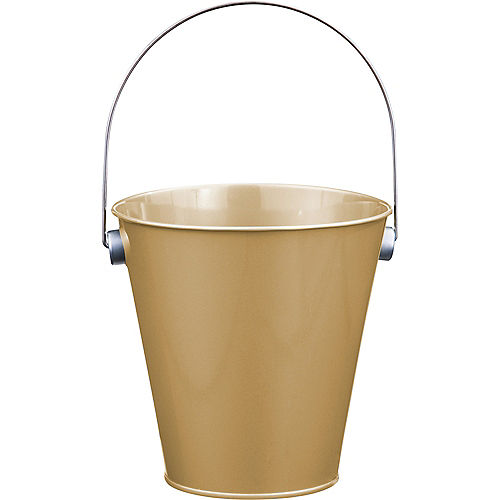 Gold Metal Favor Pail Image #1