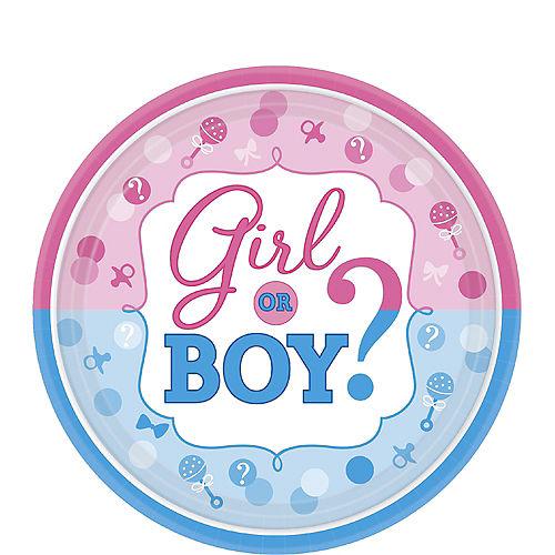 Girl or Boy Gender Reveal Dessert Plates 8ct Image #1