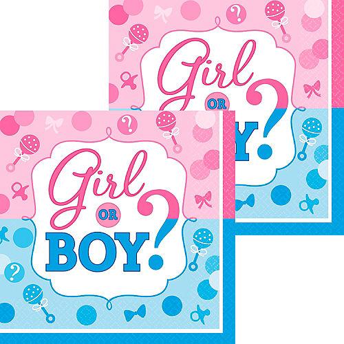 Girl or Boy Gender Reveal Beverage Napkins 16ct Image #1