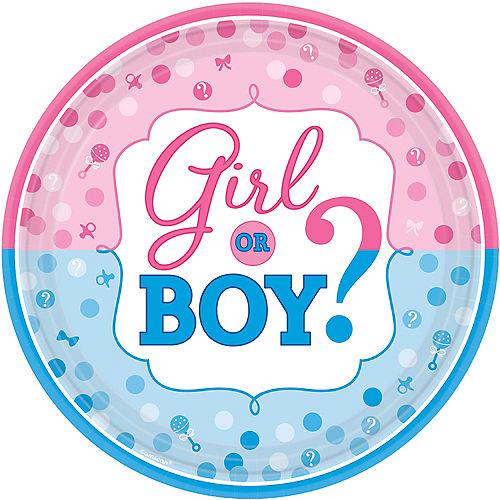 Girl or Boy Gender Reveal Dinner Plates 8ct Image #1