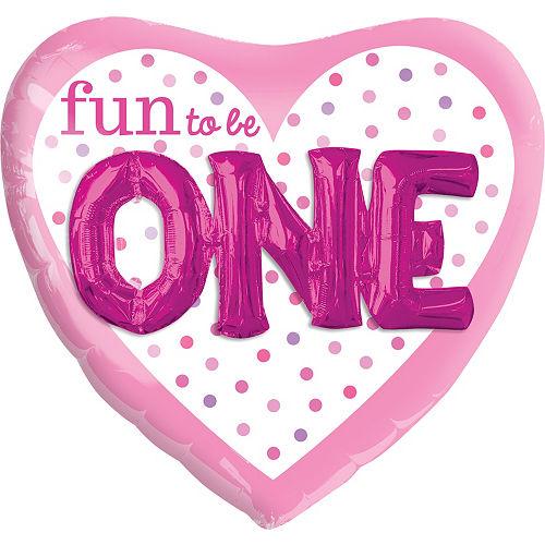 Fun to be One Balloon 36in - 3D Polka Dot Girl Image #1