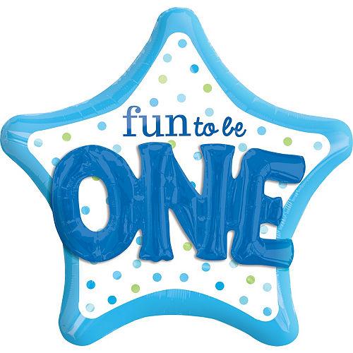 Fun to be One Balloon 36in - 3D Polka Dot Boy Image #1