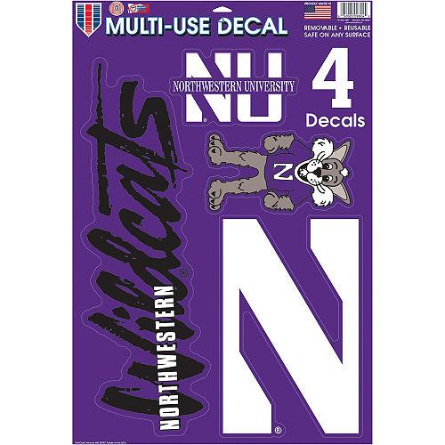 Northwestern Wildcats Decals 5ct Image #1