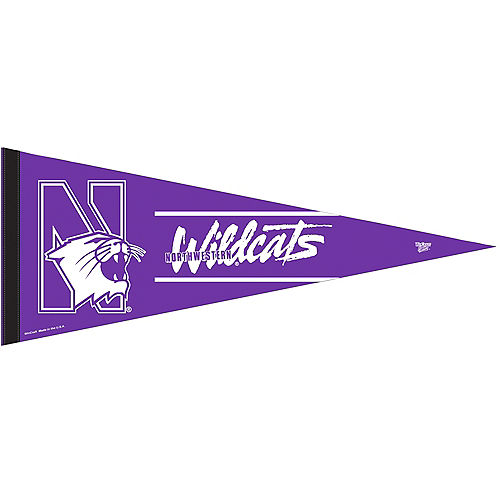 Northwestern Wildcats Pennant Flag Image #1
