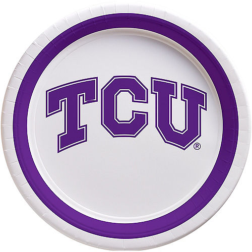 TCU Horned Frogs Lunch Plates 10ct Image #1