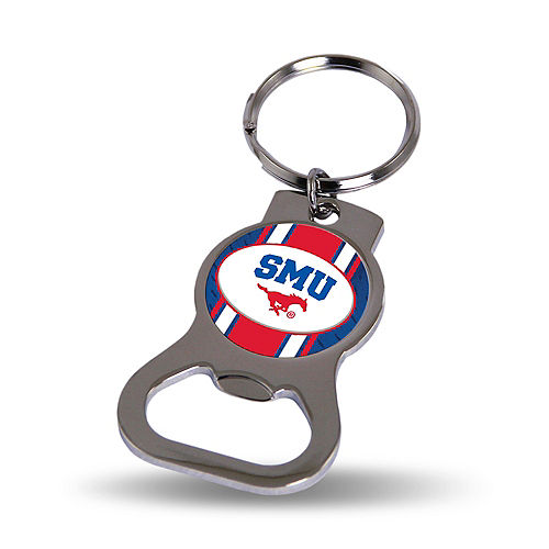 SMU Mustangs Bottle Opener Keychain Image #1