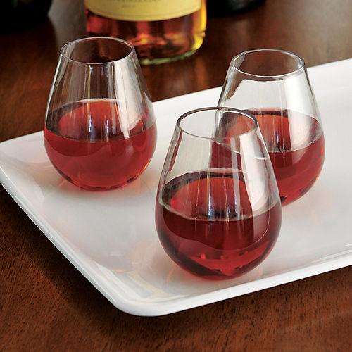 Mini CLEAR Plastic Stemless Wine Glasses 10ct Image #2
