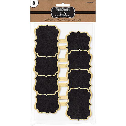 Scroll Chalkboard Label Clips 8ct Image #2