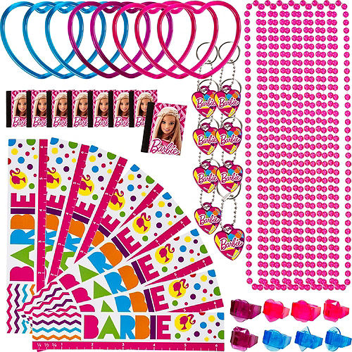 Pull String Sparkle Barbie Pinata Kit with Favors Image #4
