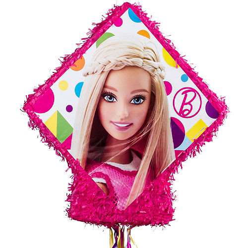 Pull String Sparkle Barbie Pinata Kit with Favors Image #5
