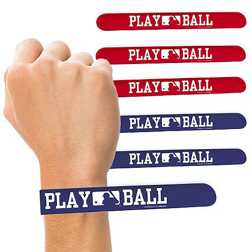 MLB Baseball Slap Bracelets 6ct Image #1