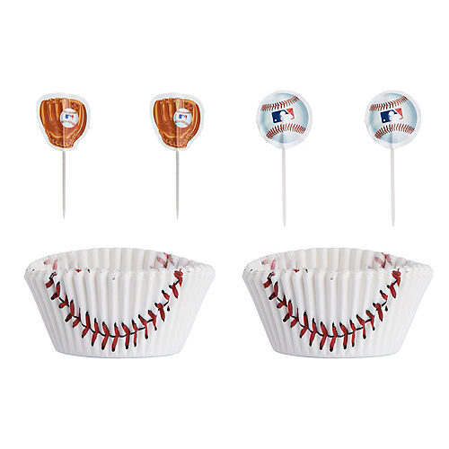 MLB Baseball Cupcake Decorating Kit for 24 Image #1