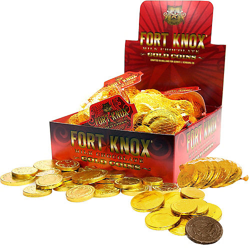 Gold Chocolate Coin Bags 18ct Image #1