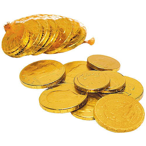Gold Chocolate Coin Bags 18ct Image #2