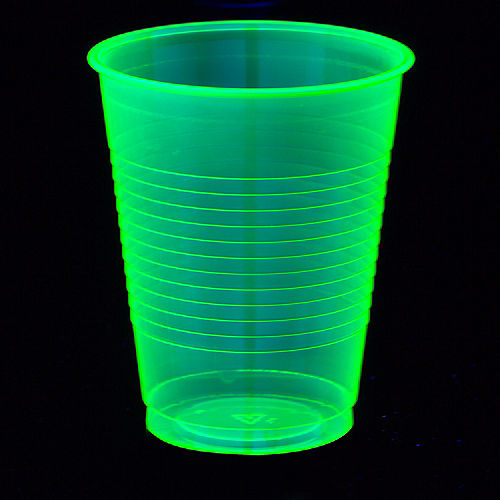 Big Party Pack Black Light Neon Green Plastic Cups 50ct Image #2
