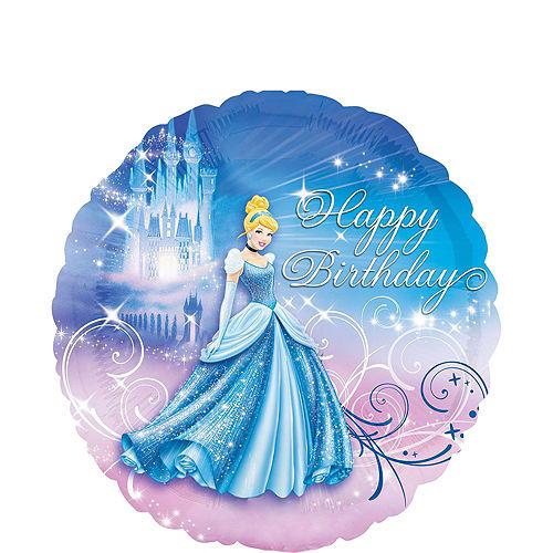 Cinderella 3rd Birthday Balloon Bouquet 5pc Image #2