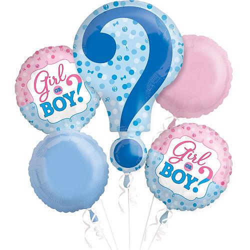 Gender Reveal Balloon Bouquet 5pc Image #1