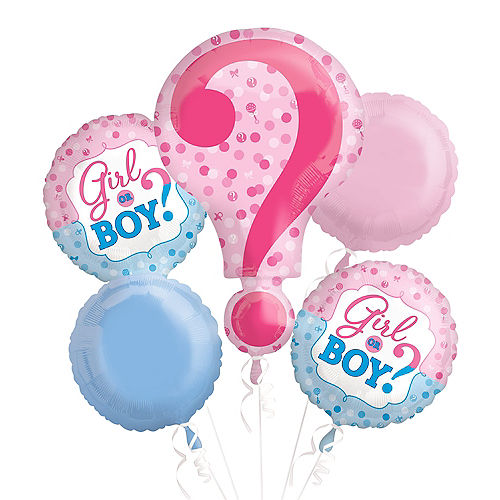 Gender Reveal Balloon Bouquet 5pc Image #2