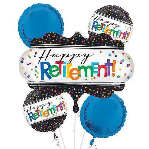 Happy Retirement Celebration Balloon Bouquet 5pc Image #1
