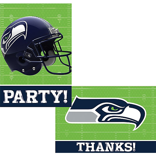Seattle Seahawks Invitations & Thank You Notes For 8 Image #1
