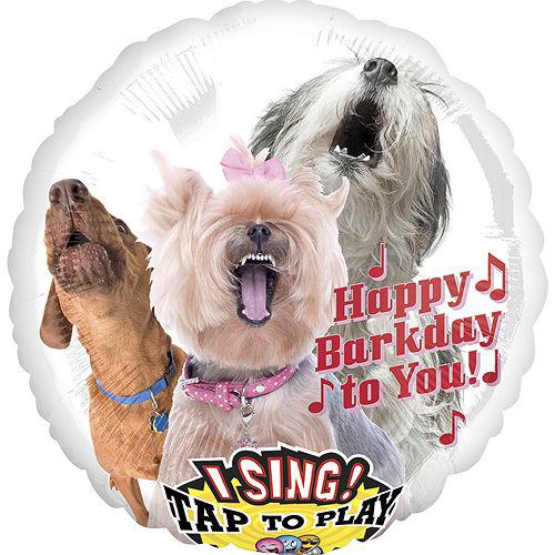 Happy Birthday Dog Balloon - Singing, 28in Image #1