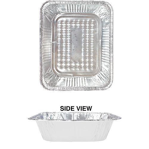 White Aluminum Half Chafing Dish Steam Pan Image #1