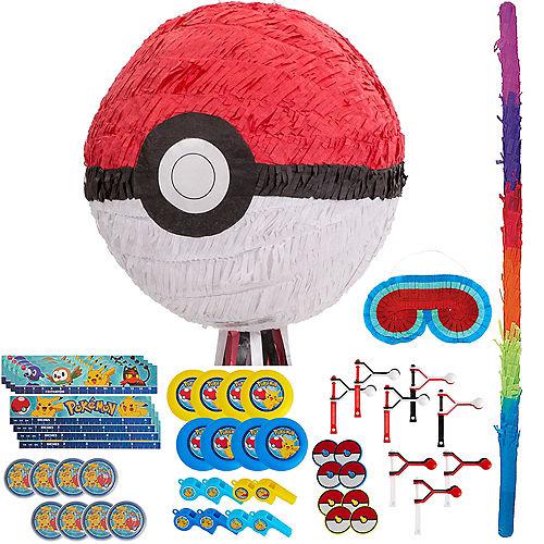 Pull String Pokeball Pinata Kit with Favors - Pokemon Image #1