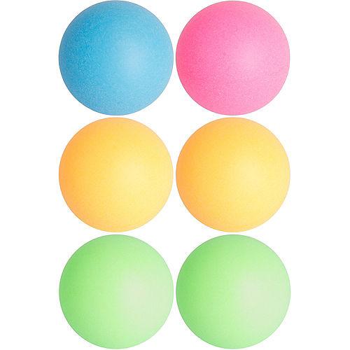 Black Light Neon Pong Balls 6ct Image #1