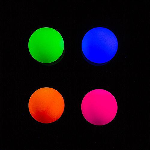 Black Light Neon Pong Balls 6ct Image #2