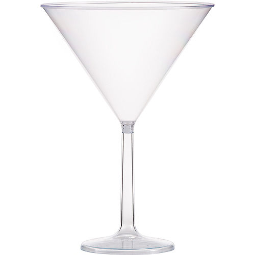 Large CLEAR Plastic Martini Glass Image #1