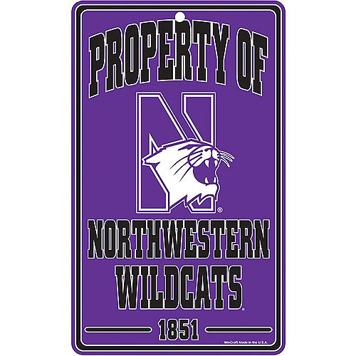 Property of Northwestern Wildcats Sign Image #1