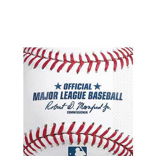MLB Baseball Beverage Napkins, 16ct Image #1