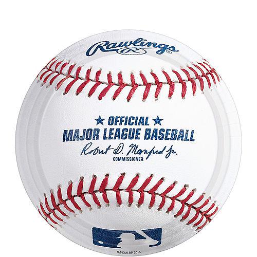 MLB Baseball Paper Dessert Plates, 7in, 8ct Image #1