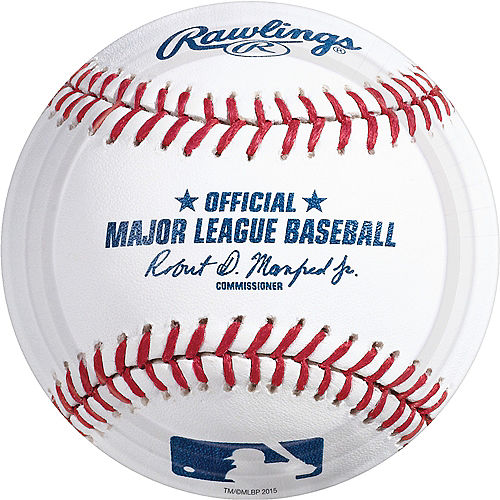 MLB Baseball Paper Lunch Plates, 9in, 8ct Image #1