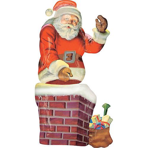 Christmas Balloon - Giant Santa Chimney Image #1