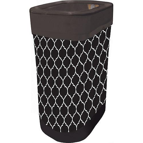 Black Moroccan Pop-Up Trash Bin Image #1