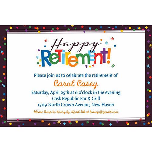 Custom Happy Retirement Celebration Invitation Image #1