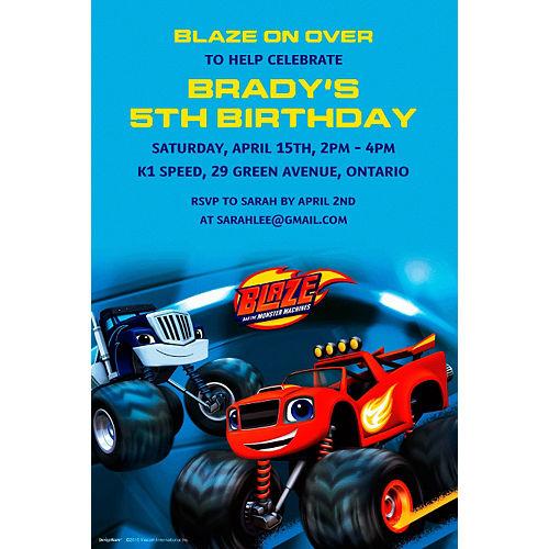 Custom Blaze and the Monster Machines Invitation Image #1