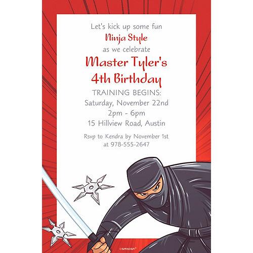 Custom Ninja Invitation Image #1