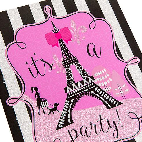 Glitter Paris Invitations 8ct Image #4