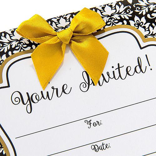 Black & White Damask Invitations 8ct Image #3