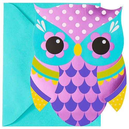 Metallic Owl Invitations 8ct Image #1