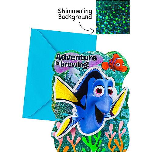 Premium Prismatic Finding Dory Invitations 8ct Image #1