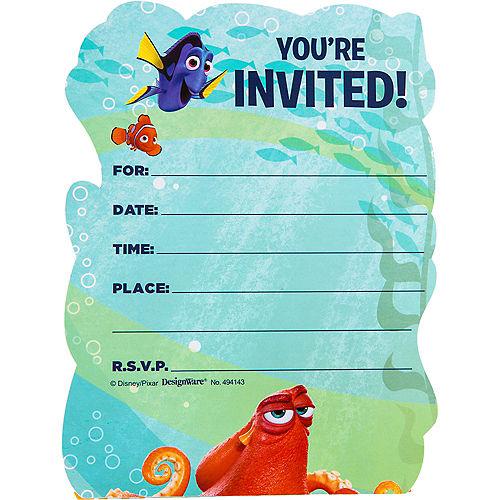 Premium Prismatic Finding Dory Invitations 8ct Image #2