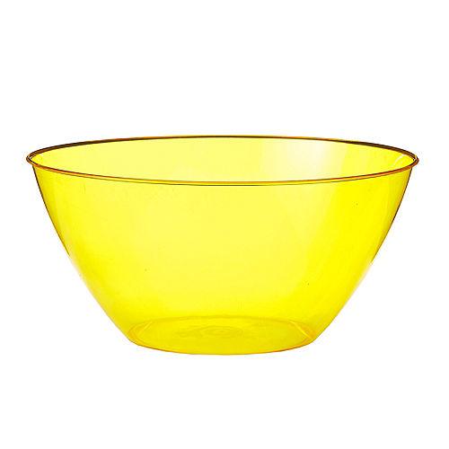 Medium Yellow Plastic Bowl Image #1