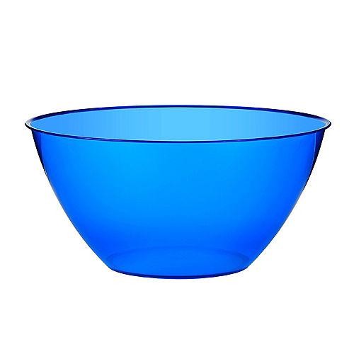 Medium Royal Blue Plastic Bowl Image #1