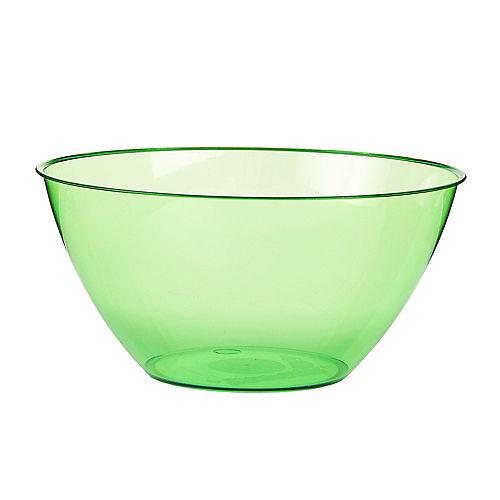 Medium Kiwi Green Plastic Bowl Image #1