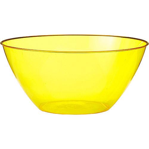 Large Yellow Plastic Bowl Image #1