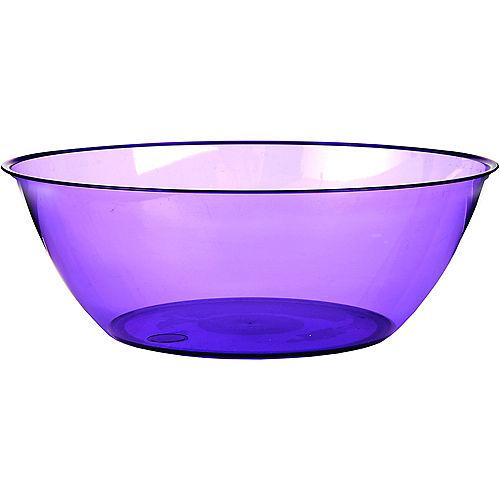 Purple Plastic Serving Bowl Image #1